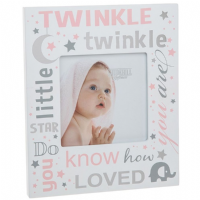 Twinkle Twinkle Little Star Picture Photo Frame ~ Baby Girl Pink